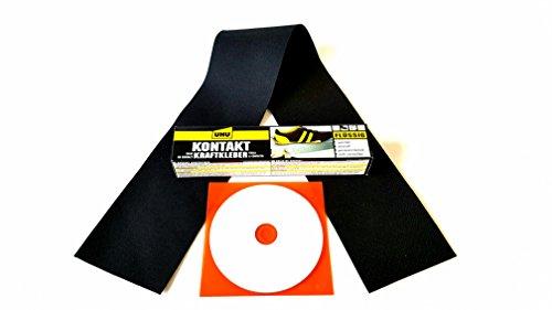 Cabrioverdeck Reparatur Set Repair Kit Rep Set Rep Kit aus original Cabriolet Verdeckstoff für Risse, Schnitte, Löcher, Abschürfungen ect.(komplett inkl. Flicken,Kleber,EBA CD) für Stoffverdecke