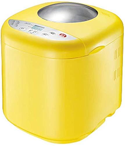 ALYR automáticos Panificadora, Panificadoras Temporizador de Retardo y 10 programas Multifuncional Yogurt Fermentación Cake Maker,Yellow
