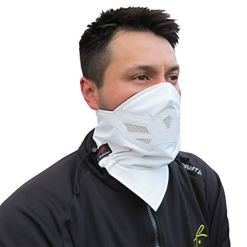 Half Face Mask for Cold Winter Weather. Use this Half Balaclava for Snowboarding, Ski, Motorcycle. (Many Colors)(White)