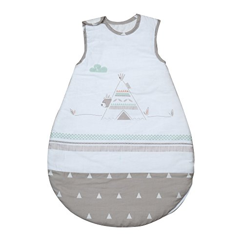 roba Schlafsack, 70cm, Babyschlafsack ganzjahres/ganzjährig, aus atmungsaktiver Baumwolle, unisex, Kollektion 'Indibär'