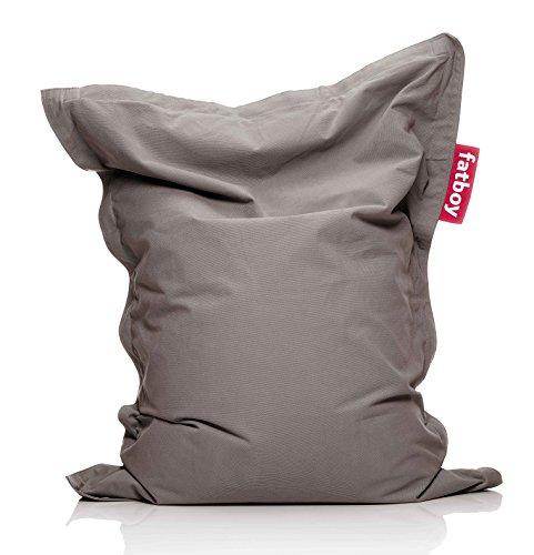 Fatboy® Junior Stonewashed Taupe | Original Baumwolle-Sitzsack | Klassisches Indoor Sitzkissen speziell für Kinder | 130 x 100 cm