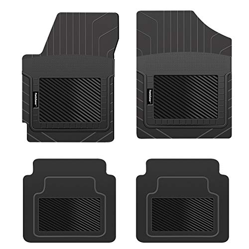 PantsSaver Custom Fit Automotive Floor Mats for Mercedes Benz GLA 250 2021 All Weather Protection for Cars, Trucks, SUV, Van, Heavy Duty Total Protection Black