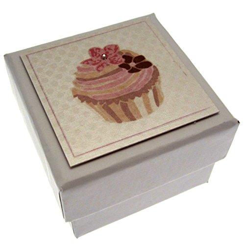 Witte katoenen kaarten Cupcake Favor, Effen witte doos 5.5cm x 5.5cm. (Code BX1)