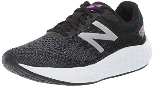 New Balance Women's Fresh Foam Rise V1 Running Shoe, Black/Voltage Violet, 5.5 M US