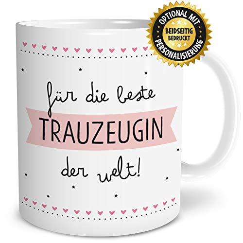 OWLBOOK Beste Trauzeugin Große Kaffee-Tasse mit Spruch im Geschenkkarton Geschenke Geschenkidee für Trauzeugin Hochzeit Ostern