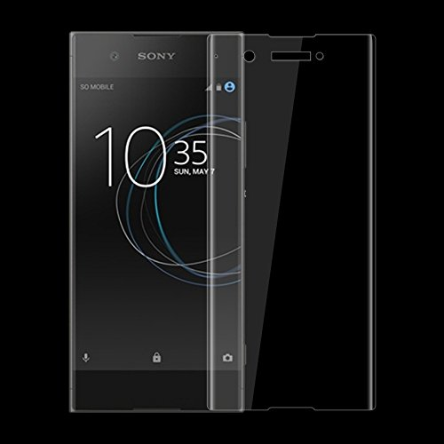 ELICA 5D 9H Curve Edge Full Front Body Cover Tempered Glass Screen Protector Guard for Sony Xperia XA1 Plus Dual (Transparent)