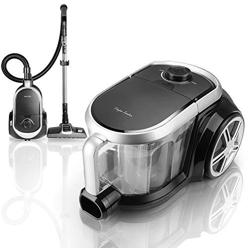 Taylor Swoden Katar – Aspirador sin bolsa 800W | Filtro HEPA, depósito 3 litros | Cepillo para alfombras y suelo duro, cepillo para muebles y cepillo de boquilla estrecha | Soporte para accesorios.