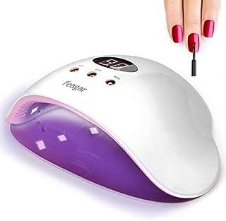Nail Curing Lamp, Feagar Portable Nail Dryer, UV/LED Gel Nail Polish Light with Automatic Sensor for Fingernails and Toenails, White (12W nail lamp)