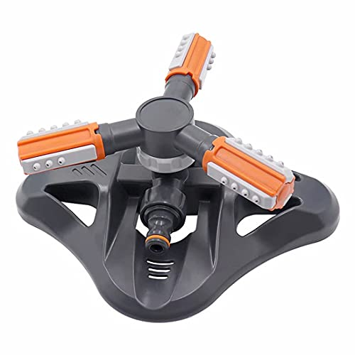BAIHUO Lawn Sprinkler,Upgrade Garden Sprinkler Automatic 360 Degree Rotating Irrigation Grass Water Sprinkler System, Garden Hose Sprinkler for Yard/Built in 36 Units Angle Spray Nozzles (Orange)