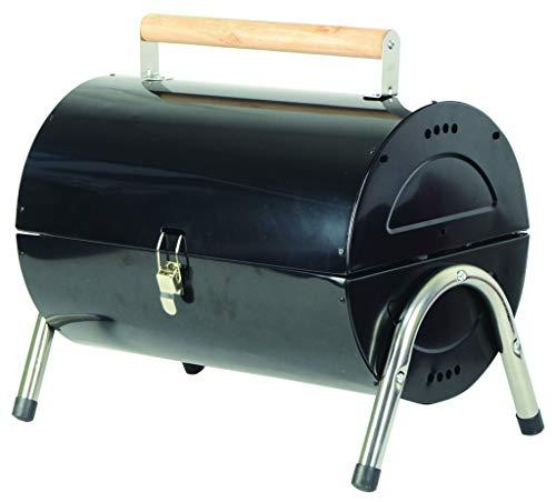 Redwood Leisure Portable Barrel Barbecue, Black, 42x24.5x35.5 cm