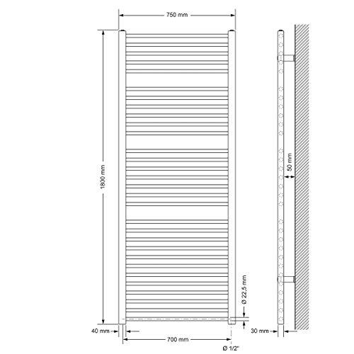 ECD Germany Bhz Sahara 750*1800 Anthrazit gebogen S