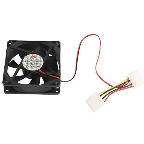 WANGQI Refrigeración por Ventilador de computadora 8cm Ventilador de refrigerador de Caja de PC - 4 Pines Molex