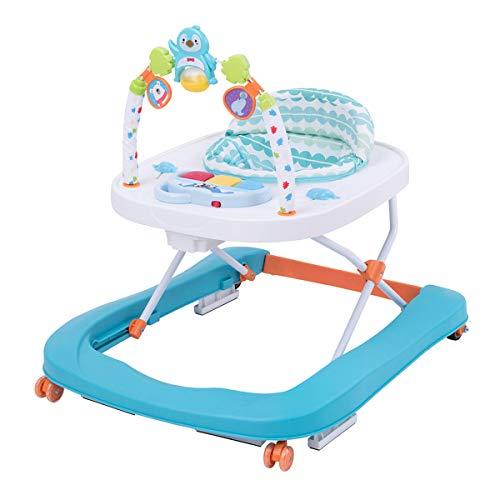Girelli per Bambini Primi Passi Multi-Funzionale Baby Go Round Walker, Toddler Music Walker Pieghevole con Vassoio di Alimentazione EN1273: 2005