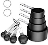 Measuring Cups and Spoons Set, 8 Piece Stackable Stainless Steel...