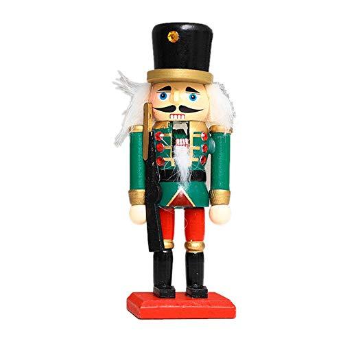 lingzhuo-shop Soldat Holz Nussknacker Festliches Dekor Perfekt Für Regale Und Tische Süße Figur Plüsch Puppe Tisch Ornament Für Kinder Schlafzimmer Weihnachtsdekoration