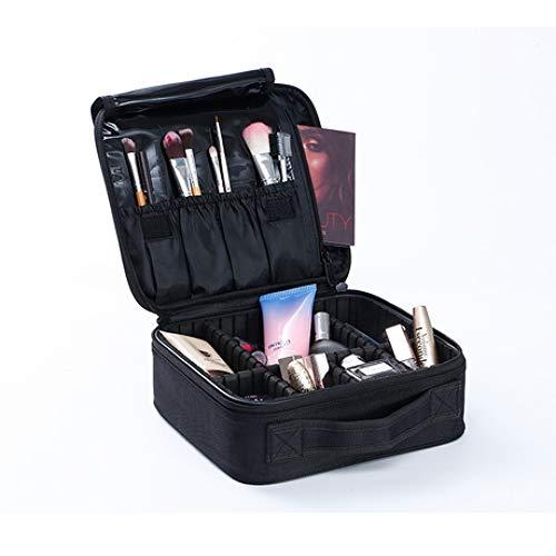 Boîte à Bijoux Sac Cosmétique Multi-Fonction Boîte de Rangement Portable cosmétique Portable Grande capacité imperméable Noir Oxford Chiffon Portable
