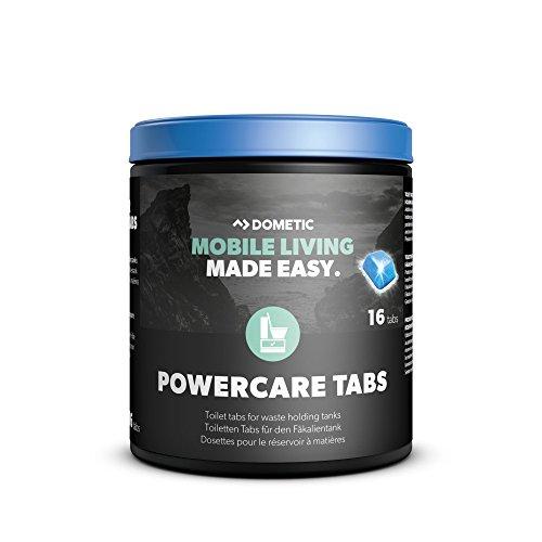 Dometic Pastillas PowerCare - Aditivo para el tanque de aguas negras, ayuda a la disolución de los residuos, 16 pastillas