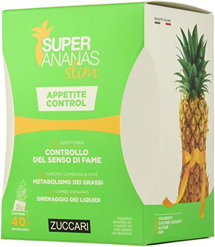 Zuccari Linea Super Ananas Slim Controllo del Senso di Fame, con Griffonia, 40 Bustine