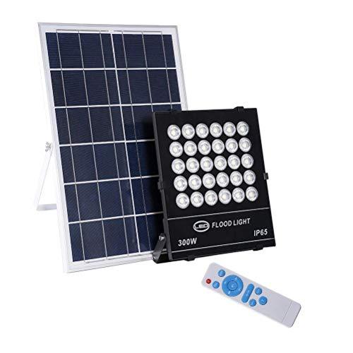 FWZJ Proyector Solar LED, Impermeable al Aire Libre IP65 Proyector de jardín...