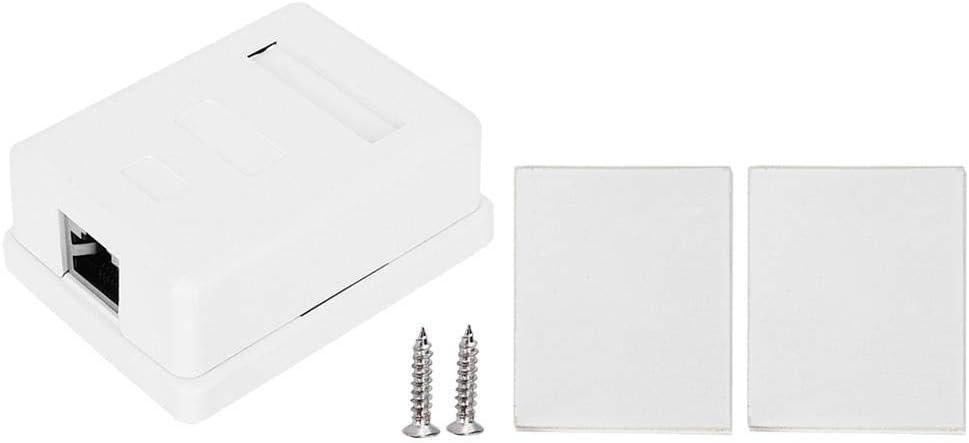 2Pcs Networks Box, RJ45-8P8C CAT6 Desktop Information Box Single Port Shielded Networks Wiring Surface Mounted Desktop Information Junction Box for 22-24AWG Cable