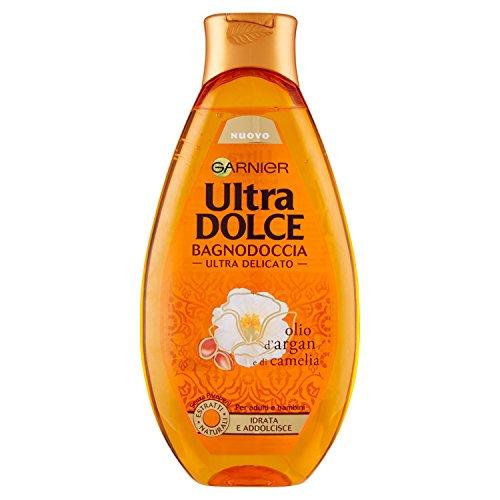 Ultra Dolce Olio d'Argan e di Camelia Bagnodoccia Satinante Pelle Setosa e Morbida, 500 ml - [pacco da 4]