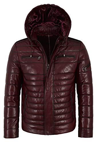 Smart Range Leather Co Ltd. Herren Kugelförmige Lammfell-Lederjacke Kirsche Real Napa Fully Quilted 2006 (2XL for Chest 46