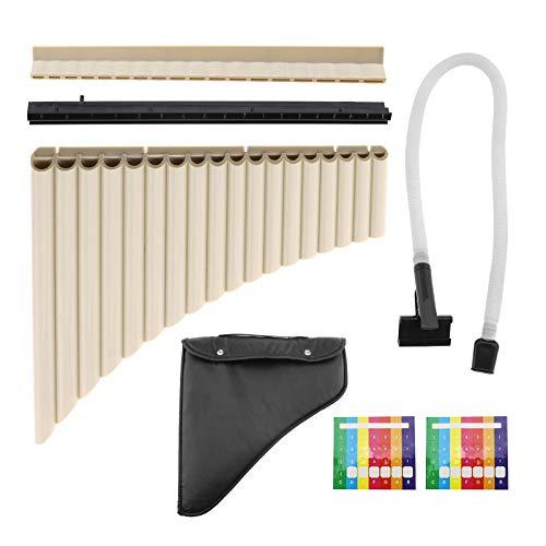 Juego de instrumentos de 18 tubos de flauta de pan con bolsa de almacenamiento para jugar en dos sentidos para principiantes y el amor musical ABS portátil