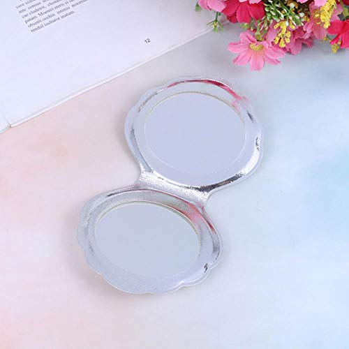 LASISZ 2-Face Pocket Cosmétiques Mirror Portable Makeup Mirror Shell PU Leather 1,2 Magnifier Make Up Mirrors Girls, SV
