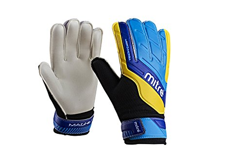 Mitre Kinder Torwarthandschuhe Magnetite Junior, Blue/Cyan/Yellow, Size 5