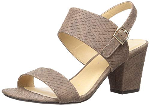 CL by Chinese Laundry Women's SPOT ON Heeled Sandal Brown 5.5 M US