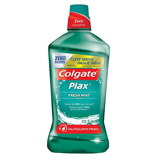 Enxaguante Bucal Colgate Plax Fresh Mint 500Ml Promo Leve 500Ml Pague 350Ml