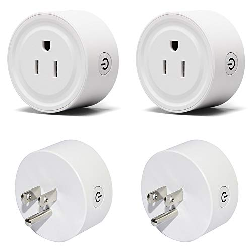 Smart Plug Wifi Socket Mini Outlet Work with Amazon Alexa,Google,Remote Control with Timer Function,Voice Control,No Hub Required (4 Pack)