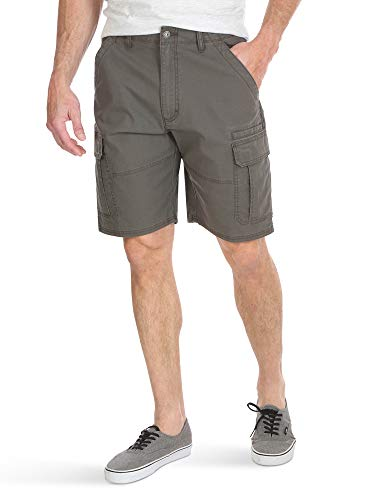 Wrangler Authentics Men's Classic Relaxed Fit Stretch Cargo Short, Olive drab Ripstop, 36
