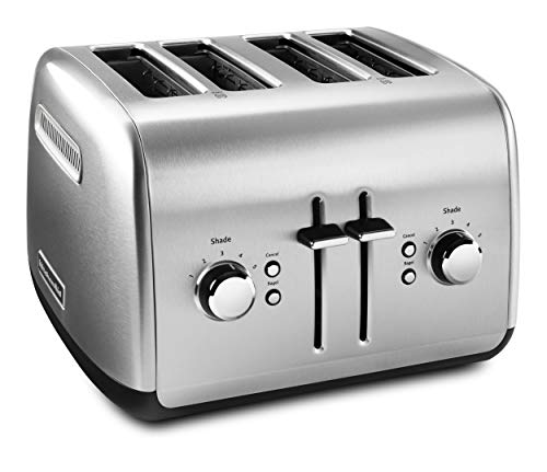 KitchenAid 4-Slice Toaster with Manual High-Lift Lever | Brushed Stainless Steel (Renewed)