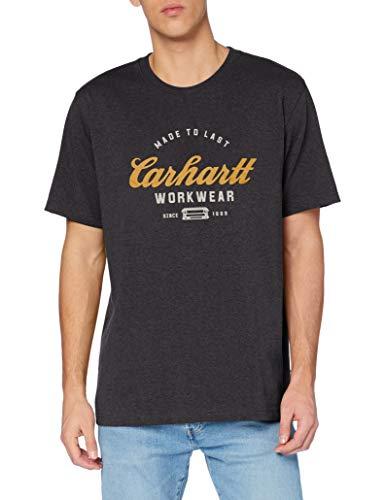 Carhartt Made To Last T-Shirt Camiseta, Carbon Heather, XL para Hombre
