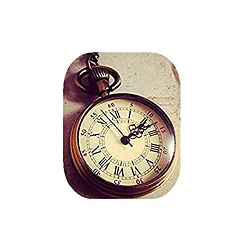 1 reloj de bolsillo redondo colgante simple redondo bronce antiguo antiguo abuelo inglés