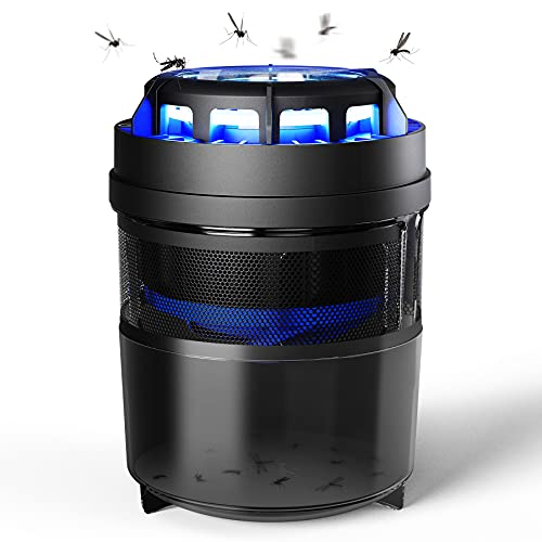 Fly Trap Intelabe Fruit Fly Trap Bug Zapper Indoor Mosquito Trap Killer Gnat Trap with Light Control Timer Refillable Glue Boards