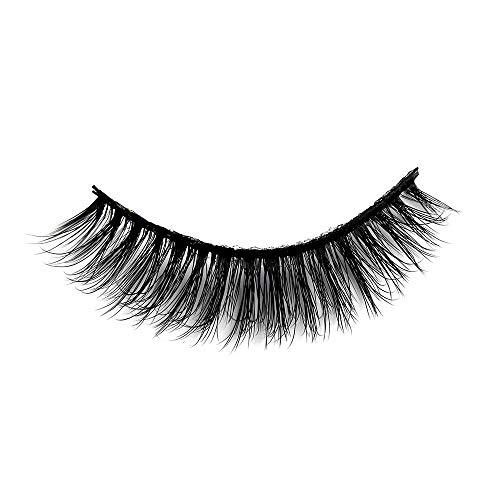 SKONHED 3 Pairs Woman's Fashion Handmade Voluminous Lashes Thick Cross Natural Makeup Extension Tools False Eyelashes 3D Silk Fiber(SD-65)