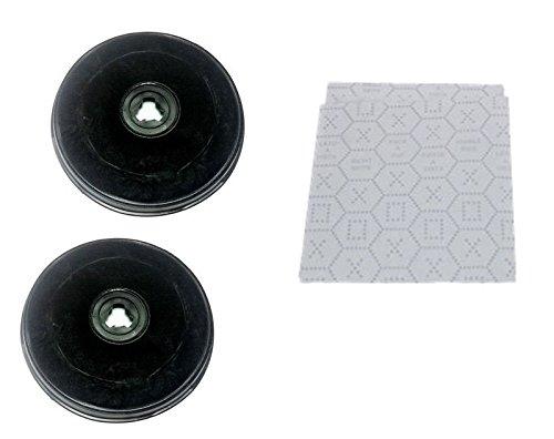 MarelShop - kit 2 filtri a carbone + filtro in panno per cappe FABER