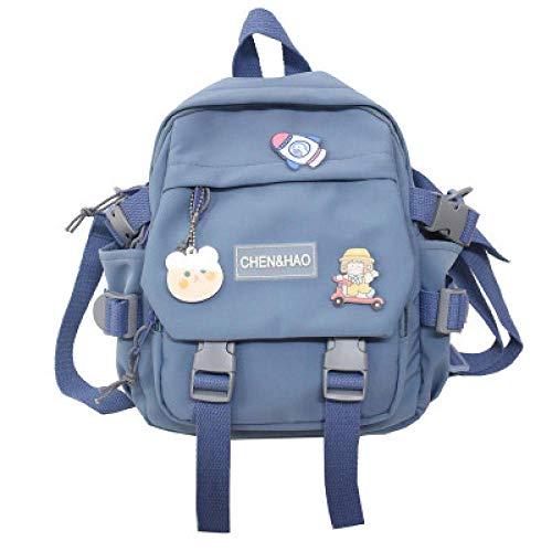 QPYYBR Mini mochila pequeña de lona de estilo coreano para mujer, mochila de viaje de moda, bolso escolar de ocio, bolso de mano para niña Tennage