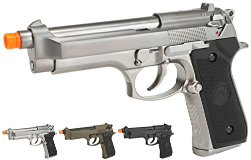 Evike WE-USA NG3 M9 Heavy Weight Airsoft GBB Professional Training Pistol - Silver - (33096)