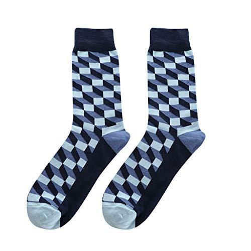 Leey Socken Herren Baumwolle Socken Lustig Lange Socken Tapedesign Socken Fußball Socken Sport Socken Warme Socken Halbsocken Winter Rutschfeste Ohne Drückende Naht Atmungsaktive