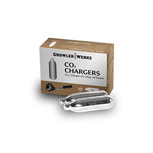 GrowlerWerks uKeg 64 CO2 Chargers 8g, Box of 10