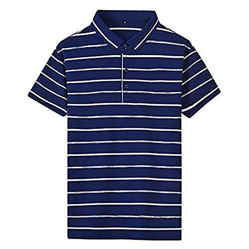 HaiDean poloshirt heren zomer gestreept polo patroon revers korte mouwen moderne casual shirts daily casual mode polohemd tops basic