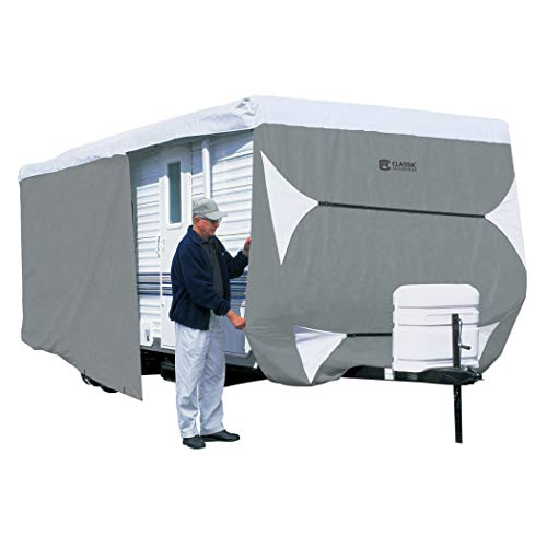 Classic Accessories Over Drive PolyPRO3 Deluxe Travel Trailer Cover or Toy Hauler Cover, Fits 20' - 22' RVs (73263)