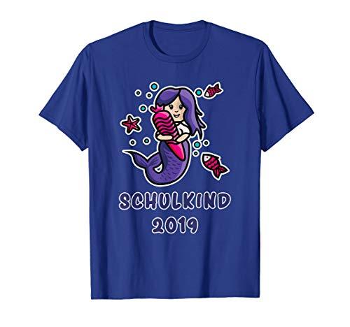 Meerjungfrau Schulkind 2019 Geschenk T-Shirt mit Schultüte