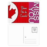 カナダメープルと幸運をカナダ ポストカードセットサンクスカード郵送側20個ミス