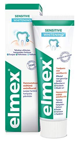 Elmex 6er Pack Zahnpasta - Sensitive Whitening - mit Aminfluorid für empfindliche Zähne - 75 ml