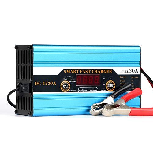GOZAR Inteligente Carga Rapida Batería Cargador 12V 30A LED Mostrar Auto Batería Cargador