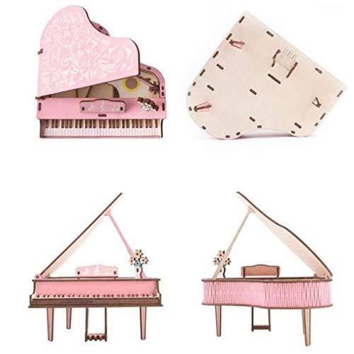 Garispace 3D Holzpuzzle Klavier Modell Kits für Erwachsene Flügel Modell DIY Handpuzzles Handwerk BAU Modell Weihnachten Geburtstagsgeschenke für Jugendliche und Erwachsene